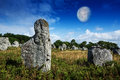 Neolitic megaliths carnac in brittany france Royalty Free Stock Photography