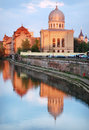 Neolog synagogue at sunset in oradea nagyvarad romania Stock Image
