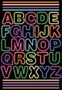 Neon Alphabet/eps