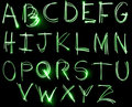 Neon Alphabet set Stock Images