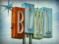 Neon bowl sign Stock Images