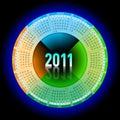 Neon calendar 2011 Stock Photo