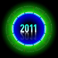 Neon calendar 2011 Royalty Free Stock Photography