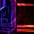 Neon circuit board abstract technology illustration Royalty Free Stock Image