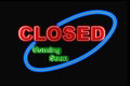 Neon Closed sign Stock Images