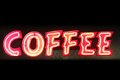 Neon coffee red and yellow sign Royalty Free Stock Images