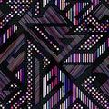 Neon color geometric seamless pattern