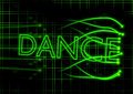 Neon dance sign with abstract background Royalty Free Stock Photo