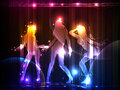 Neon dancing girls Neon collection Stock Photography