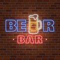 Neon design for bar, pub and restaurant business.