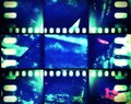 Neon Vintage film banner Royalty Free Stock Photo