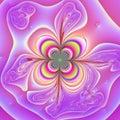 Neon flower Royalty Free Stock Photo