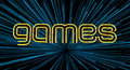Neon Games Sign Royalty Free Stock Photo