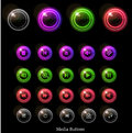 Neon glossy web buttons Royalty Free Stock Photo