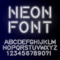 Neon glow alphabet custom handcrafted font.