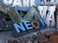 Neon graveyard scrap las vegas nevada Royalty Free Stock Photo