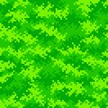 Neon green camouflage pixel pattern seamlessly tileable Royalty Free Stock Photo