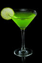 Neon green martini Royalty Free Stock Photo