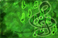 Neon Green Musical Background Stock Photos