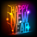 Neon. Happy New Year Stock Images