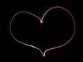 Neon heart Royalty Free Stock Photo