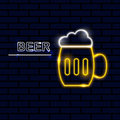 Neon icon for bar and night club Vector illustration