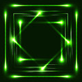 Neon illustration with use of brushes of green color Royalty Free Stock Photo