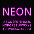 Neon Light Alphabet Font. Royalty Free Stock Photo