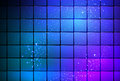 Neon light cube background Royalty Free Stock Photo