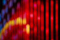 Neon lights of the city at night in blurred Royalty Free Stock Photo