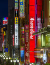 Neon lights in east shinjuku district in tokyo japan june on june is one of the most crowded places Stock Photos