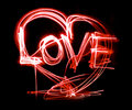 Neon love Stock Photos