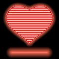 Neon love Stock Images