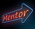 Neon mentor concept.