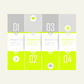 Neon modern template for elements of infographic banners or websites Stock Images