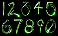 Neon Number Set Royalty Free Stock Photos