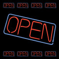 Neon Open Sign Vector Stock Images