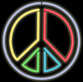 Neon peace sign Royalty Free Stock Photo