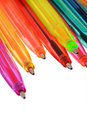 Neon pens of various colours Royalty Free Stock Photo