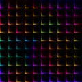 Neon rainbow bright color grid with thorns - seamless background Royalty Free Stock Photo