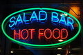 Neon restaurant sign Stock Images