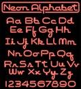 Neon Script Alphabet/eps Royalty Free Stock Photo