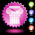 Neon Seal Set - Doric Column Stock Image