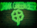 Neon Sign Drink Green Beer Green