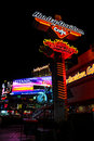Neon sign for the harley davidson las vegas cafe on the strip in nevada Stock Photo