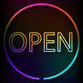 Neon sign OPEN Royalty Free Stock Photo