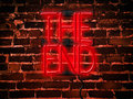 Neon Sign Red The End Royalty Free Stock Photo