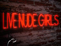 Neon Sign Red Live Nude Girls