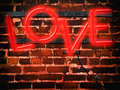 Neon Sign Red Love Royalty Free Stock Photo