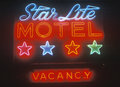 Neon sign star lite motel in the catskills ny Stock Photos